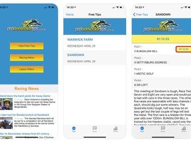 Horse Racing Tips - iOS