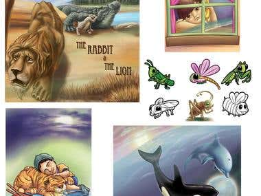 Story book & childs book illustrations
