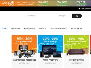 Joomcliq eCommerce website