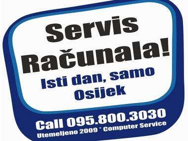 Logo for computer service