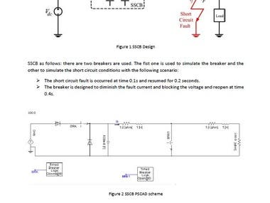 Design and simulating DC solid state circuit breaker