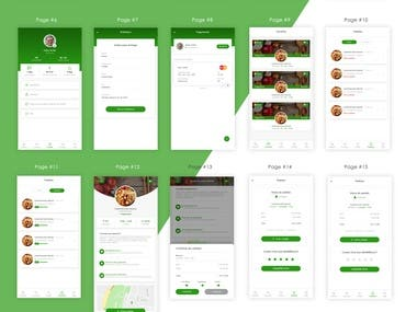 Food Order Mobile App Branding Website