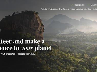 Travel & adventure website
