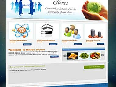 Web Site Development for Micron Techno