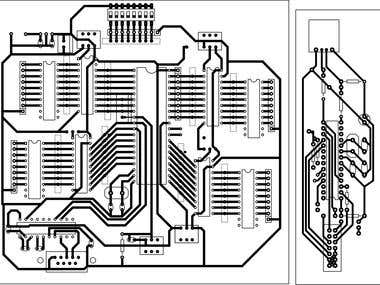 PCB Layout for 8051/8052 generic board and USBAsp programmer