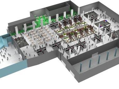 3D floor plan for Perforum