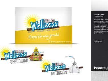 Graphic Identity for Hershey's Wellness Program