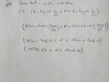 Solution of Statistics Problems