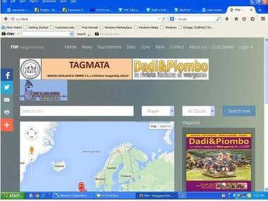 War Game Portal website