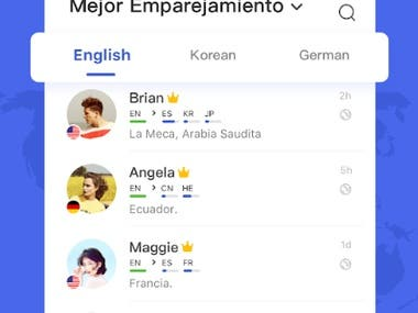 Chat and learn lenguajes App
