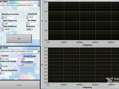 Labview for auto measuring filter's features