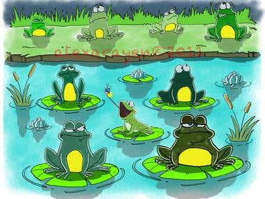little frog's dinner children's book