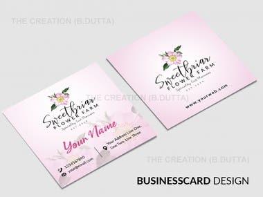 Square Business Card Design
