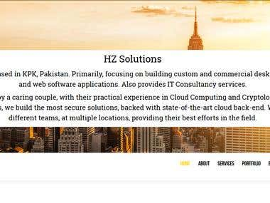 Resposive Website for HZ Solutions
