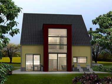 exterior render - small houses