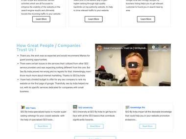 Business Website using WordPress