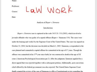 law writing