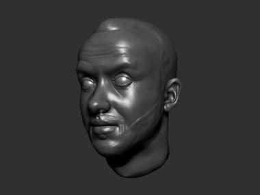 3D FACE SCULPTURE IN ZBRISH