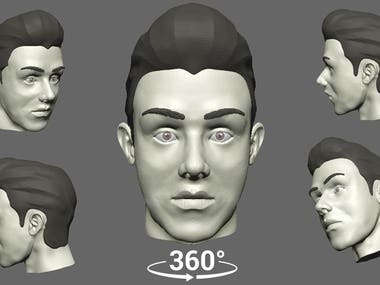 SCULPTURE FACE 3D IN ZBRUSH