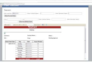 Employee Timesheet Report