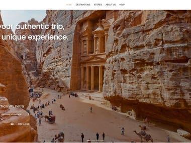 Jordan Travelling Website (Vue.js)
