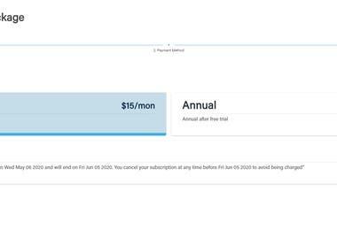 Payment Page (SPA) Vue.js