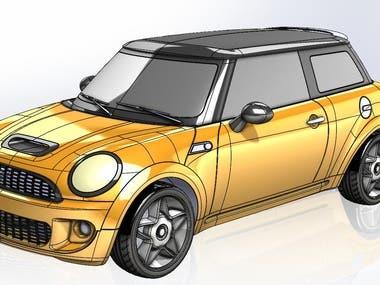 Car surface modeling