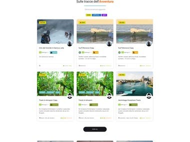 A Adventure Listing Dynamic Site