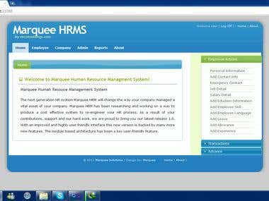 Marquee HRM in ASPnet MVC 3
