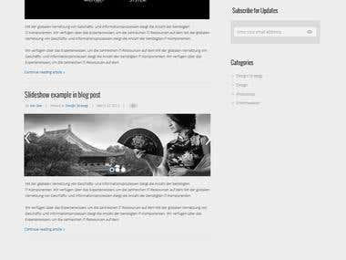 Custom Coded Bootstrap and WordPress site