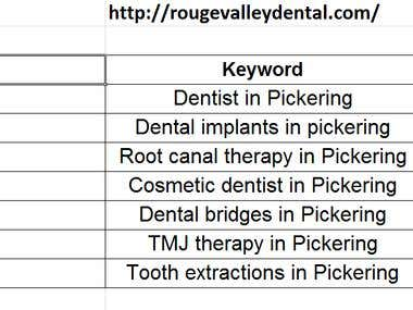 "SEO for ""http://rougevalleydental.com/"""