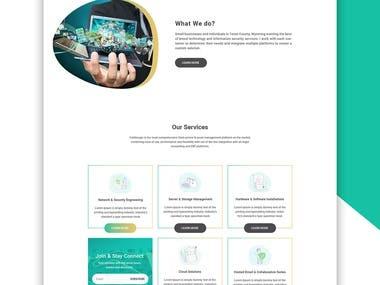 Technology Web PSD Template