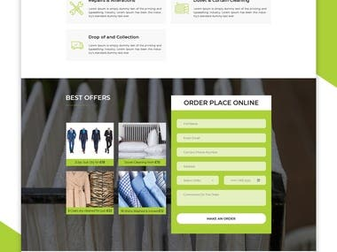 Cleaning Service Web PSD Template