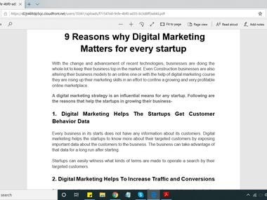 9 Reasons why Digital Marketing Matters for every startup