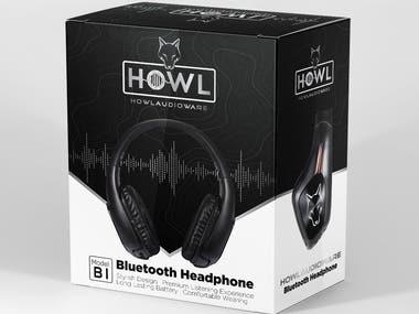 Headphone Box Packaging Design