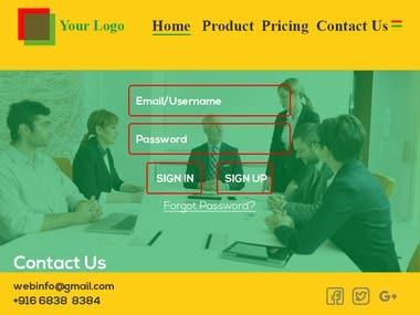 Web Page Template Design