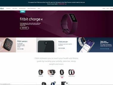 E-commerce Website Front End Development (React.js)