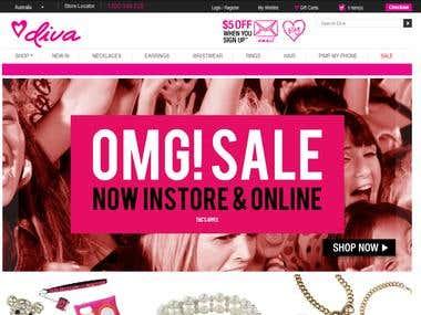Diva an E commerce Website