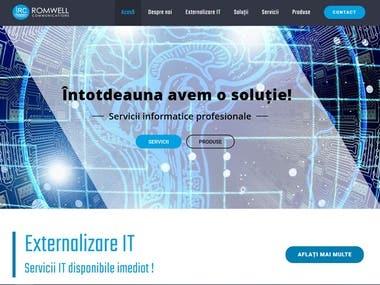 Romwell Communications website