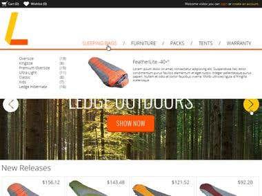 Outdoor eCommerce site
