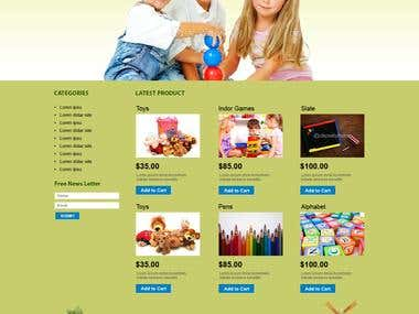 Baby Product web Development