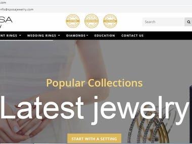 Sposa Jewelry Website (e commerece)