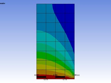 2D Conduction Analysis using ANSYS