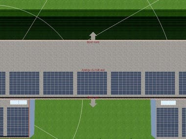 Rooftop Solar design of a commercial society