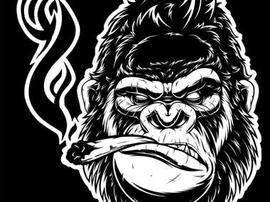 Illustration - Gorilla Logo