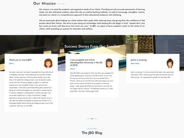Website for JBG Education Group