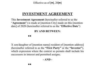 Agreement drafted by me
