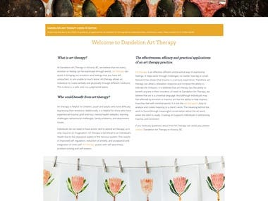 Art Therapy Dynamic Website