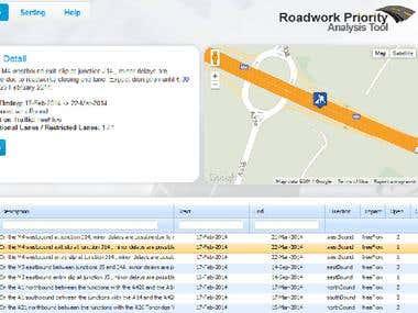 Road Work Analysis Tool