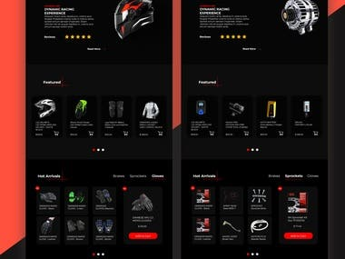 Bike Spare Parts Website Design